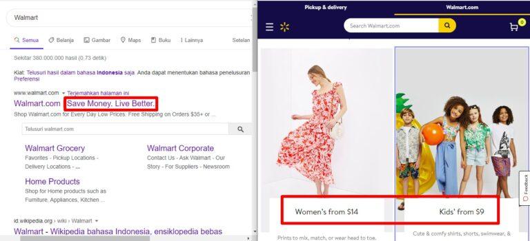 Tahukah Kamu, Bahwa Walmart adalah Satu-satunya Perusahaan di Dunia yang Mempromosikan : Save Money, Live Better. Sedangkan dia adalah Perusahaan Ecommerce. (mirror branding strategy)